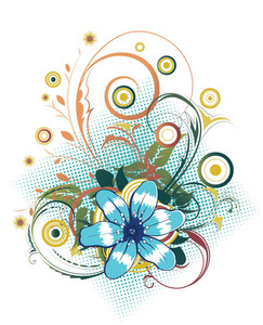 Vector Abstract Flower With Circles