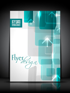 Vector Abstract  Flyer Design With Arrows