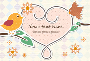 Vector Abstract Frame With Bird