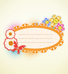 Vector Abstract Frame With Butterfly