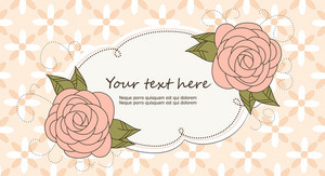 Vector Abstract Frame With Floral