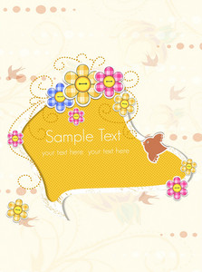 Vector Abstract Frame With Flowers