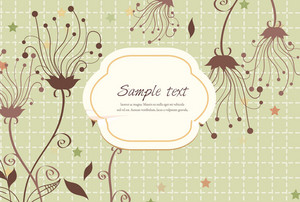 Vector Abstract Frame With Swirls