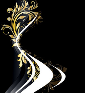 Vector Abstract Gold Floral Background