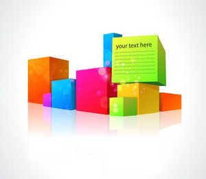 Vector Abstract Illustration With Colorful Boxes