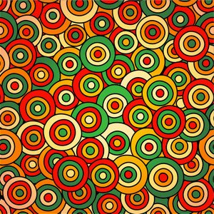 Vector Abstract Seamless Pattern With Circles