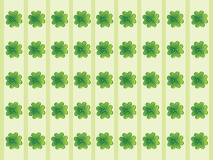Vector Abstract Shamrock Illustration Design 17 March