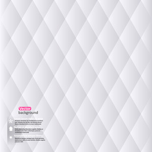 Vector Abstract White Geometric Background. Vector Illustration With Rhomb. Minimalistic Backdrop.