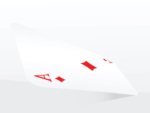 Vector Ace Of Diamonds On Abstract Playing Card Background