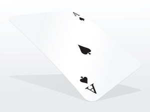 Vector Ace Of Spades On Abstract Playing Card Background