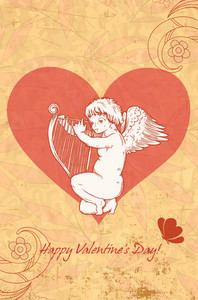Vector Angel With Heart