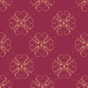 Vector Arabesque Seamless Pattern