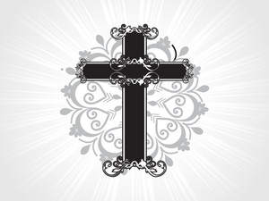 Vector Artistic Design Cross Illustration