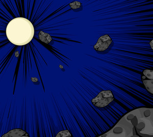 Vector Asteroids Moon Background