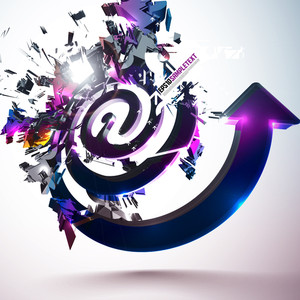 Vector At Sign Crushing Abstract Background