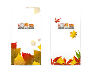 Vector Autumn Backgrounds With Leaves