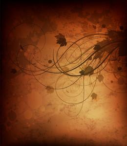Vector Autumn Grunge Background