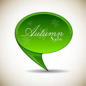 Vector Autumn Sale Banner Template On Plane Background With Space For Your Business Purpose. Eps 10