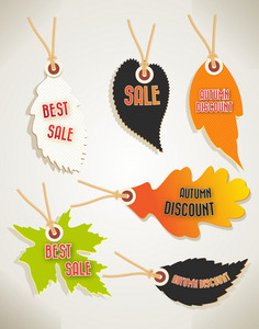 Vector Autumn Shopping Tags