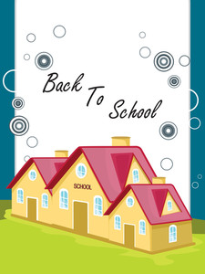 Vector Back To School Concept Background