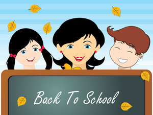 Vector Back To School Concept
