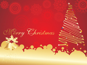 Vector Background For Merry Christmas Day