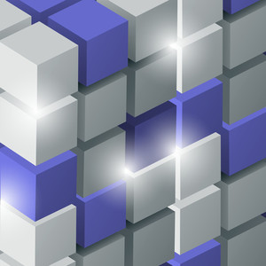 Vector Background With 3d Cubes