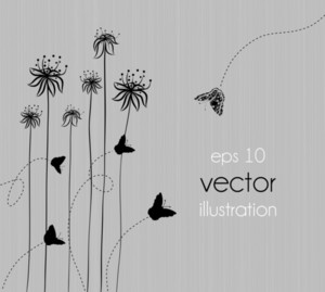 Vector Background With Abstract Floral