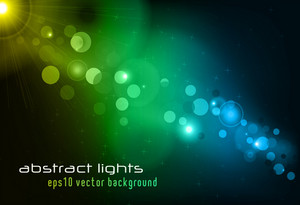 Vector Background With Abstract Lights