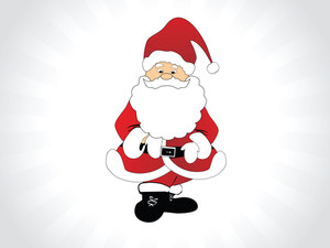 Vector Background With Christmas Santa Claus