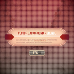 Vector Background With Horizontal Banner And Grunge Texture. Eps10.