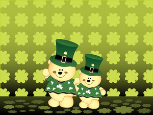 Vector Background With Leprechaun