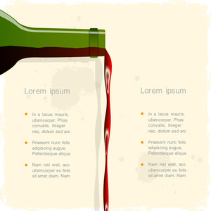 Vector Background With Red Wine