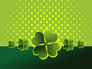 Vector Background With Shamrock