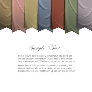 Vector Background With Silk Ribbons