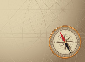 Vector Background With Vintage Compass