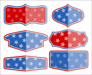 Vector Banner Templates Frame 4th Of July Vector Illustration