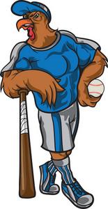 Vector Baseball Mascot