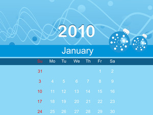 Vector Beautiful Calender