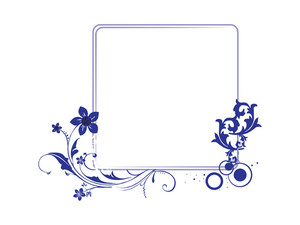 Vector Beautiful Frame With Blue Flower