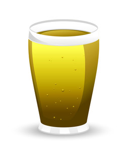 Vector Beer Glass