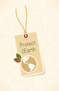 Vector Bio Design With Shopping Tag