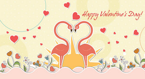 Vector Birds In Love