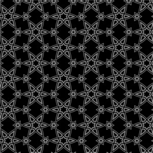 Vector Black And White Arabic Pattern