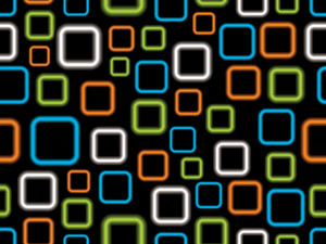 Vector Black Background With Colorful Square