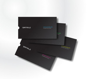 Vector Black Business Cards
