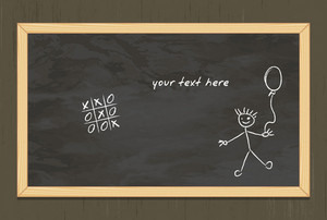 Vector Blackboard With Grunge Background