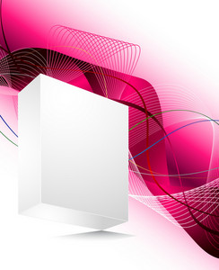 Vector Blank 3d Box With Abstract Background