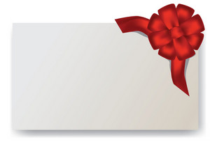 Vector Blank Gift Tag With A Red Bow