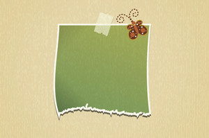 Vector Blank Paper With Butterfly